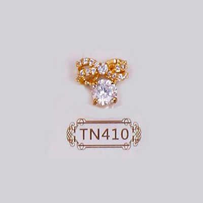 5 unids/lote TN410 decoración de uñas oro arco colgante arte de uñas 3d colgante de brillo encantos
