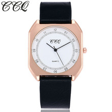 CCQ Marca Nueva Moda de Lujo de Las Mujeres Elegantes Relojes Simple Ultra Thin Dial Casual Male Reloj de Cuarzo Hombre Reloj de Pulsera de Regalo