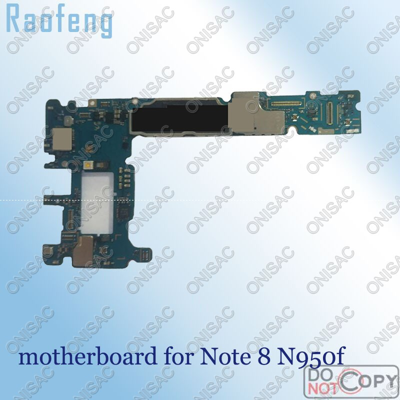 Raofeng Mainboard N950f 64GB for Samsung Note 8/N950f/Motherboard Whole-Function