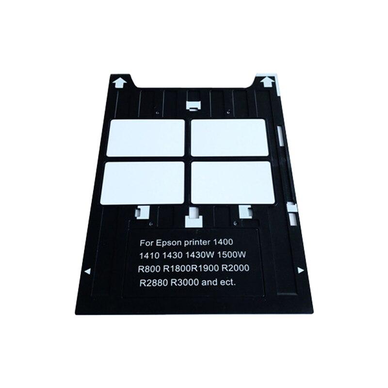 2017 Newest PVC card tray for epson 1400 1410 1430 1430W 1500W R800 R1800 R1900 R2000 R2000S R2400 R2880 R3000 G800 Artisan1430 100pcs lot printable pvc blank white card no chip for epson canon inkjet printer suitbale portrait member pos system