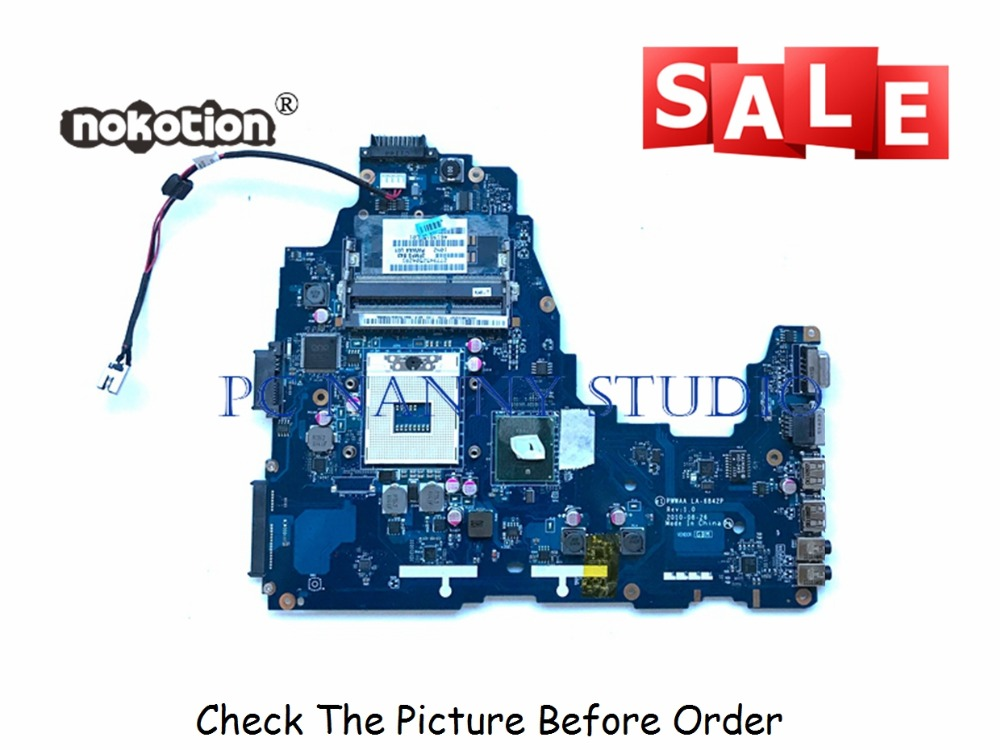 PCNANNY LA-6842P K000111440 for Toshiba Satellite C660 Laptop Motherboard HM55 DDR3 tested image