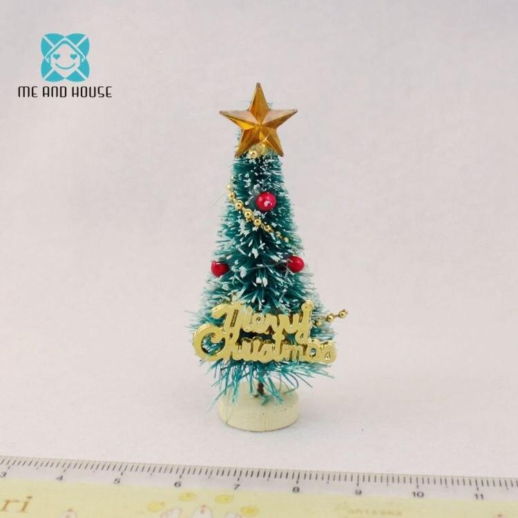 1:12 Кукольный дом мини рисунком елки деревянная подставка украшения