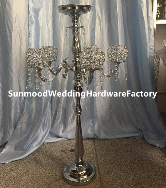 5arm Large Decorative Candles Crystal Candleholder Tall Candle Holders For Wedding Centerpieces Decoration Yuson0072