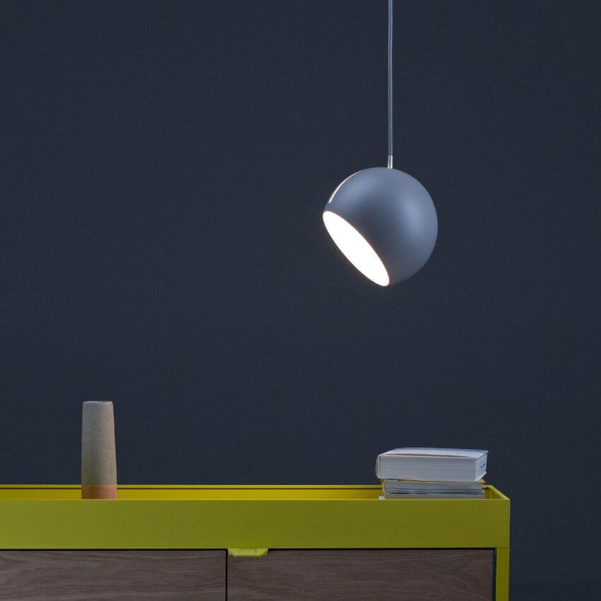 Nordic Art Hemisphere Modern Pendant Lights Lighting Post-modern LED  Living Room Restaurant Bedside Bedroom Decor Hanglamp
