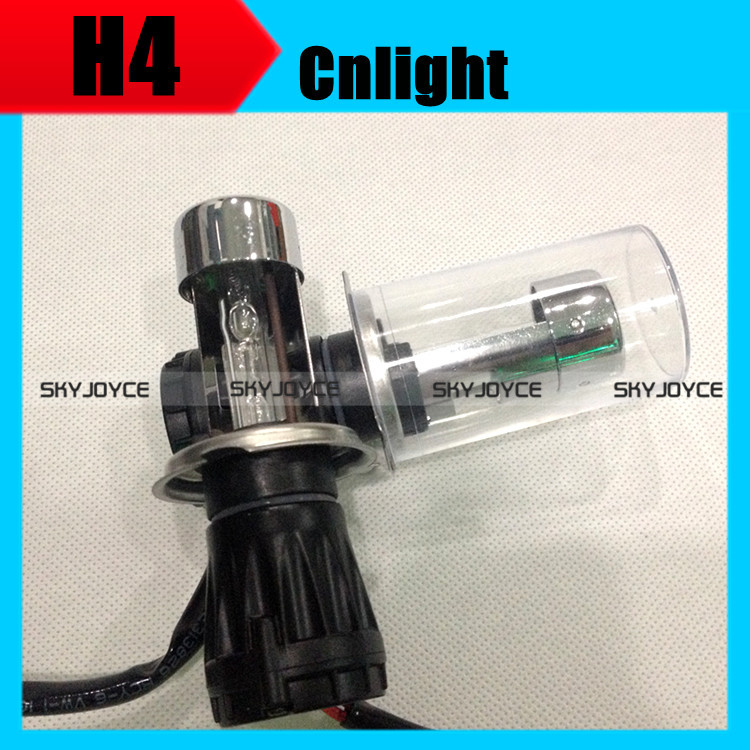 2X [With wire set] cnlight brand bi xenon h4 hid bulb lamp lights 35W 12V xenon h4 high low auto hid headlight 4500K 6000K 8000K батут sport elite r 1266 40