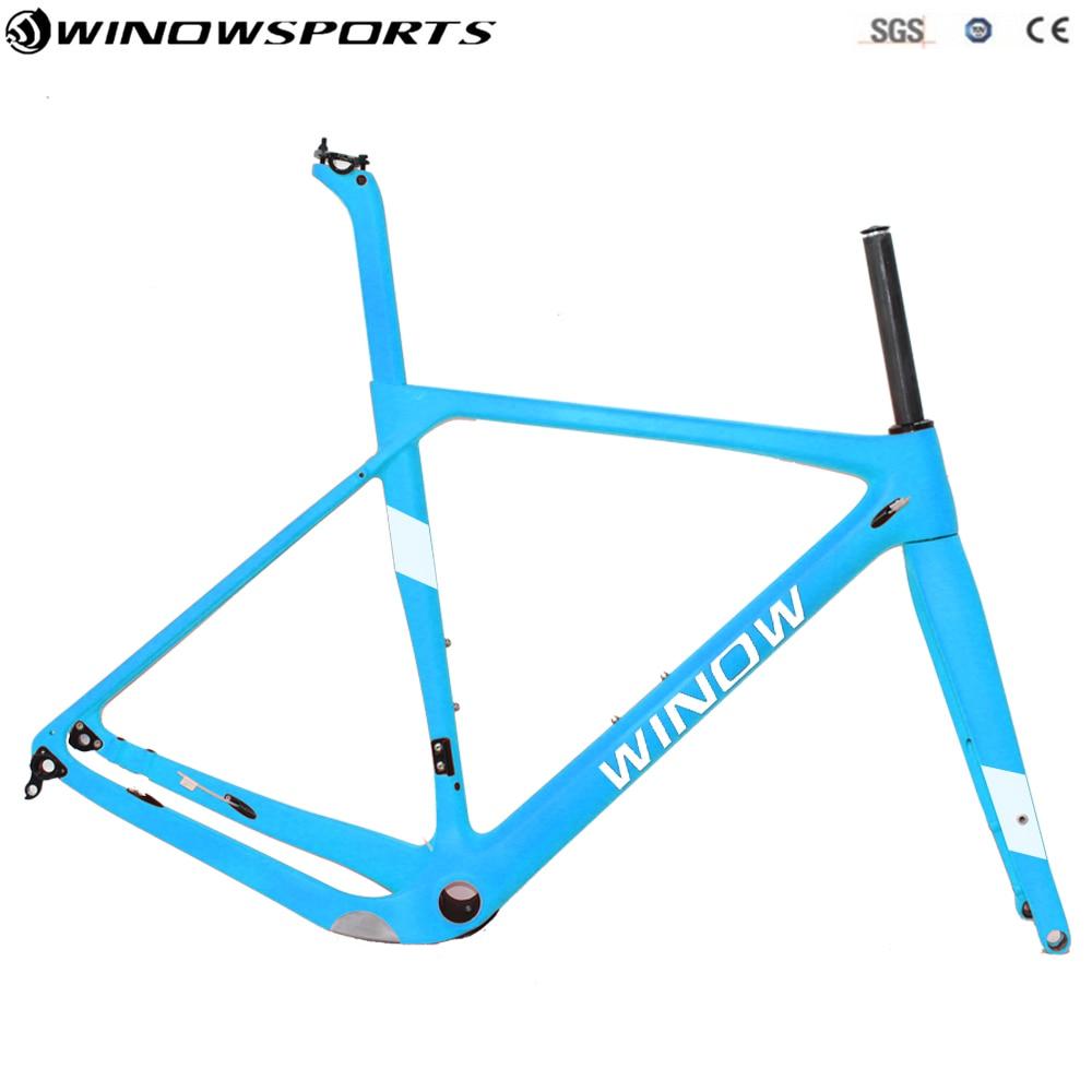 цена на Gravel Bike Frame Road MTB Gravel with 700*40c Tires, Cyclocross Disc Frame Thru Axle 142*12 Road Carbon Bike Frame