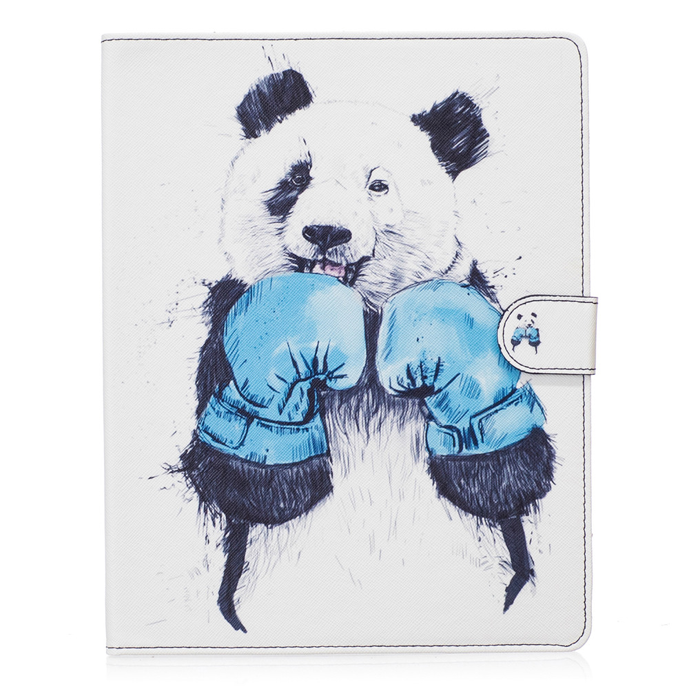 Boxing Panda pattern Flip Case for Apple iPad air1 2 with iPad mini 2 3 4 iPad 2 3 4 pro stand Cover Case Free Shipping