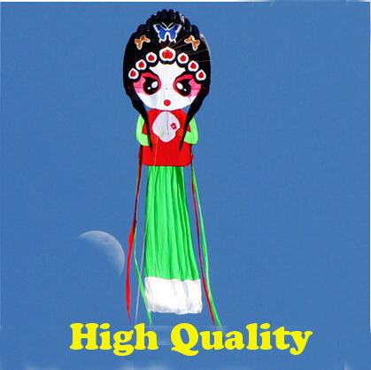 Envío de la alta calidad 10 m artistas de ópera de pekín suave fábrica de tela de nylon ripstop cometa weifang kite cometa grande pulpo