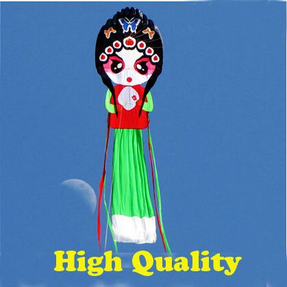 O envio gratuito de alta qualidade 10 m peking opera artistes macio nylon ripstop tecido pipa weifang kite factory grande pipa polvo