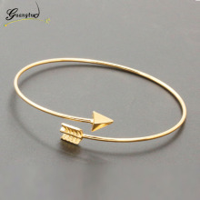 1Pcs Punk Gothic Style Arrow Shape Open Adjustable Cuff Bangle For Women Ladies Bracelet Bangles Pulseiras Bijoux