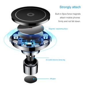 Image 5 - Baseus磁気ワイヤレス車の充電器iphone 8 高速車の充電充電器ユニバーサル携帯電話ホルダー車のホルダー