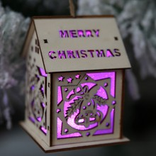 LED Christmas Tree House Style Fairy Light Led wedding natal Garland New Year christmas decorations for home