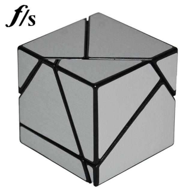 Fangshi F/S Cuerpo Negro + Etiqueta Engomada DIY 2x2x2 Velocidad Cubo Cubos Mágicos juguetes Educativos Ghost juguete Para Los Niños