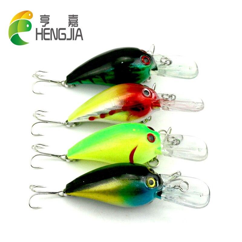 HENGJIA 7 3CM 10 1G 6 hooks 20pcs Fishing Lures Crankbaits Bass Plastic Fishing bait wobble