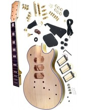 цена на Free shipping black custom  electric guitar kit/unfinish guitar/Diy electric guitar