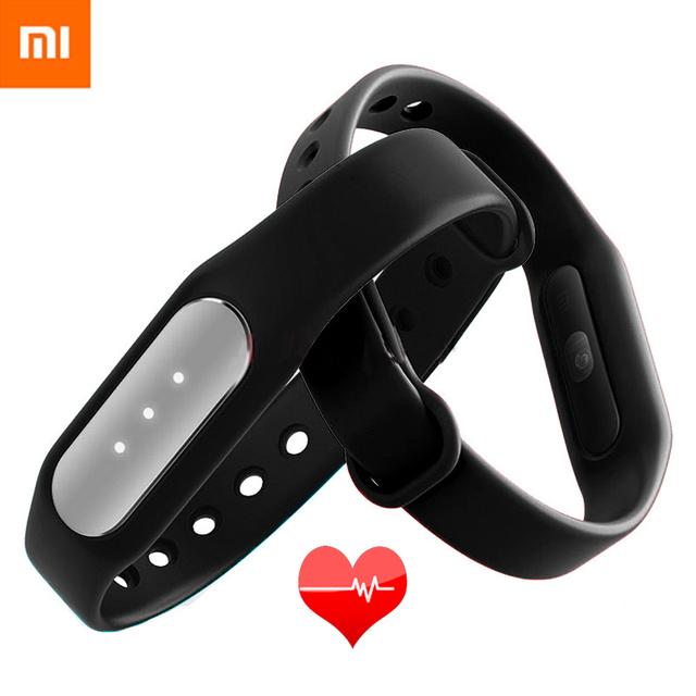 Original xiaomi mi band 1 s monitor del ritmo cardíaco del pulso inteligente sleep pulsera rastreador de ejercicios para  Android iOS del teléfono  envío libre