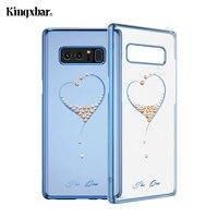 KINGXBAR For Samsung Galaxy Note 8 Case Swarovski Element Crystal Diamond Rhinestone Case For Samsung Galaxy
