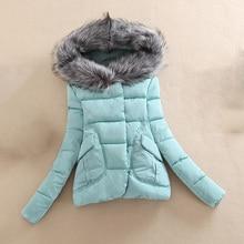 Winter Jacket Women 2017 new winter warm praka jacket women short paragraph Slim Fur collar large yards women's coat jacket