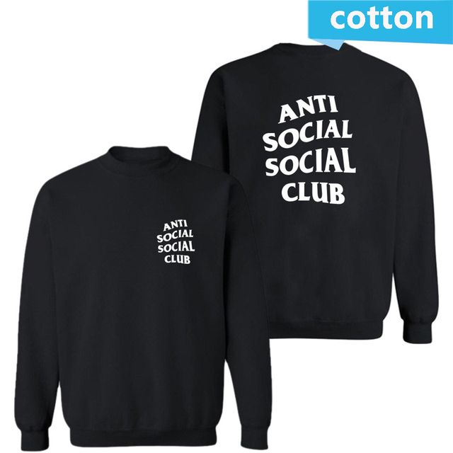 Fashion street wear Brand АНТИ СОЦИАЛЬНЫЕ SOCIAL CLUB мужчины Толстовки Кофты я чувствую, как пабло anti social club