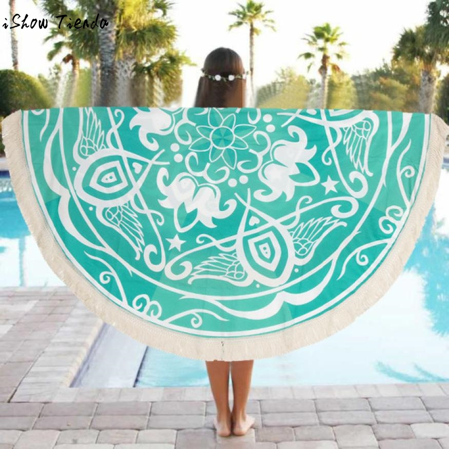Drop Shipping Sunbath Beach Towels Round Beach Pool Home Shower Towel Blanket Beach Coverup Drap De Plage