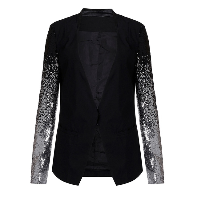 Women's Black Blazer with sequin - S to 4XL 2