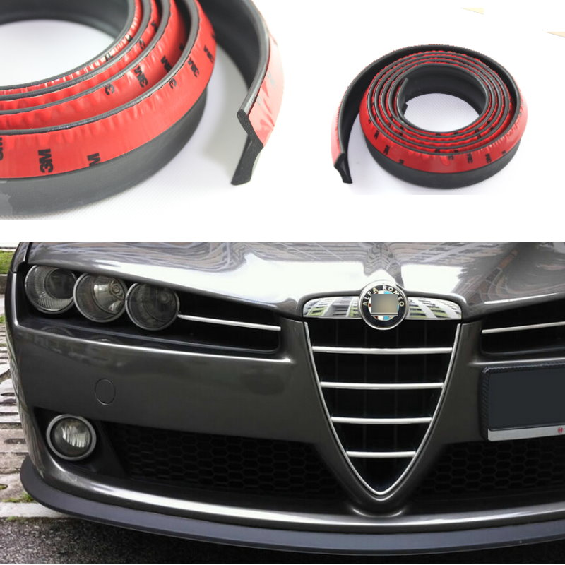 Lyudmila For Alfa Romeo 156 159 166 147 Brera Spider Giulietta 940 Bumper Lip Body KIT Rubber Strip Front Rear Skirt Spoiler bluetooth hands free adaptor car integrated usb aux jack interface for alfa romeo brera gt spider mito 147 156 159 giulietta