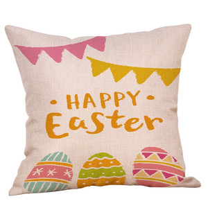 Image 3 - Cute rabbit print Cotton Linen Square Home Decorative Throw Pillowcase Sofa Waist Cushion Cover Comfortable decorative pillows
