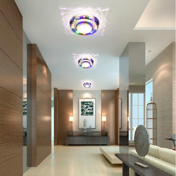 3 W lüks Kristal Led tavan ışıkları restoran koridor oturma - İç Mekan Aydınlatma - Fotoğraf 2