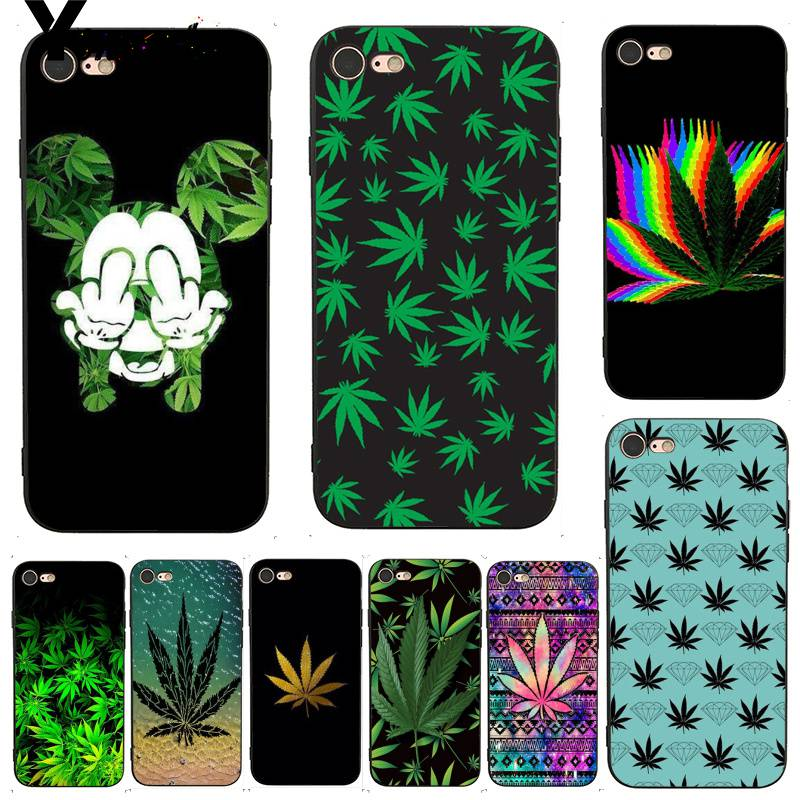Yinuoda For iphone 7 6 X Case Abstractionism Art High Weed Coque Shell Print Phone Case for iPhone 7 X 6 6S 8 Plus 5 5S SE 5C