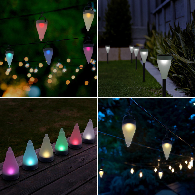 Lumiparty Waterproof Outdoor Solar Lights Landscape Lighting Rgb 7 Color Changing Garden Path For Home Patio Yard In Lamps From