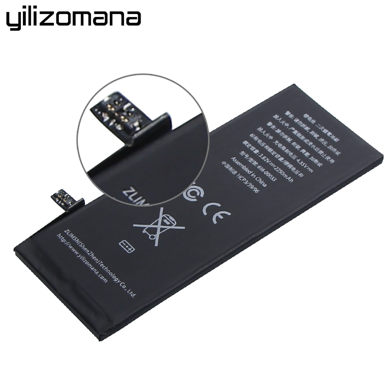 YILIZOMANA Phone Battery For Iphone 6s Iphone6s High Capacity 2250mah Phone Batteries With Retail Package Free Tools In Stock