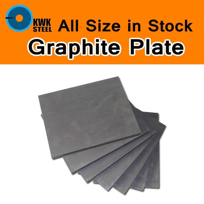 Graphite Plate Panel Sheet High Pure Carbon Graphite Electrode Plate Pyrolytic Graphite Carbon Sheet High Purity Mould DIY Use