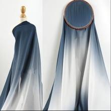3style Gradient translucent soft breathable Chiffon wedding dress skirt fabric clothing diy textiles C562