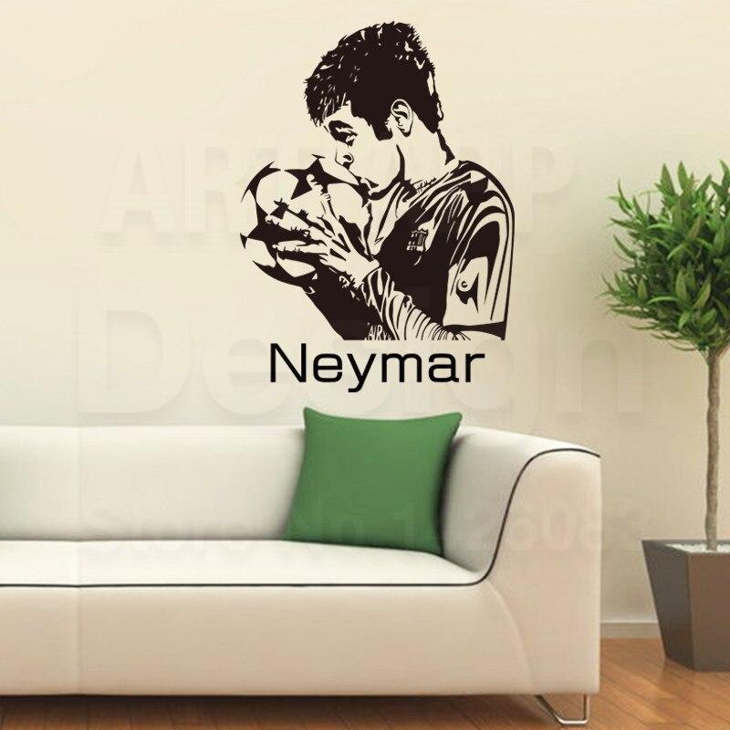 2016 Art Design Cheap Home Decor Vinyl Neymar Da Silva