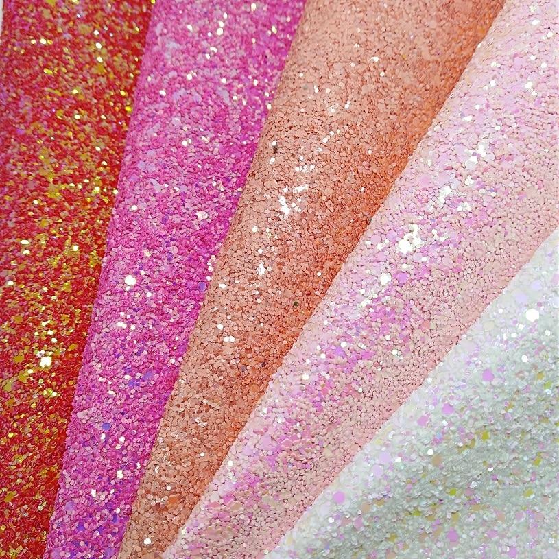 1 YARD Glitter PU Leather Glitter Fabric Synthetic Leather Fabric Faux PU Leather for DIY Accessories