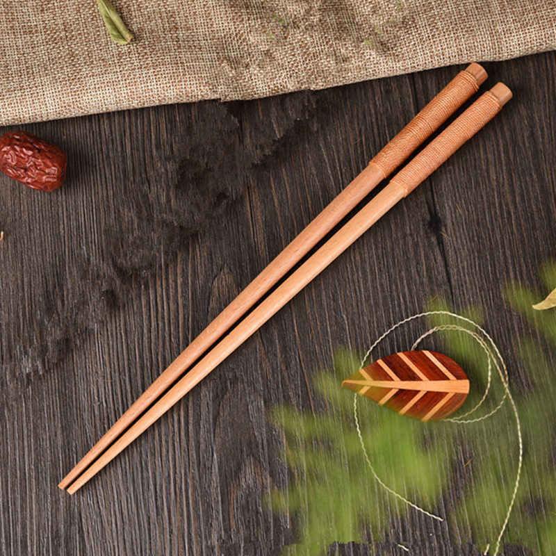 Jeu de baguettes japonaises en bois de châtaigne   Fait à la main, cadeau de valeur Sushi, ligne de cravate alimentaire chinoise