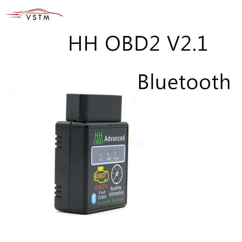 Mini ELM327 V2 1 Bluetooth HH OBD Advanced OBDII OBD2 ELM 327 Auto Car Diagnostic Scanner code reader scan tool hot selling