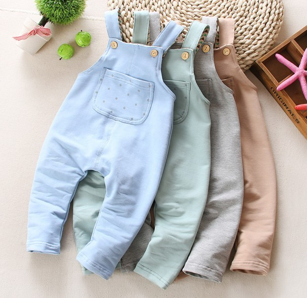 0-2Y new 2016 spring baby girl baby boy knitting cartoon overall baby boy overall pant girls jeans baby romper children clothing