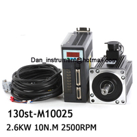 220V 2.6KW ac servo drive and motor servo kit 130ST M10025 10N.M 2500rpm