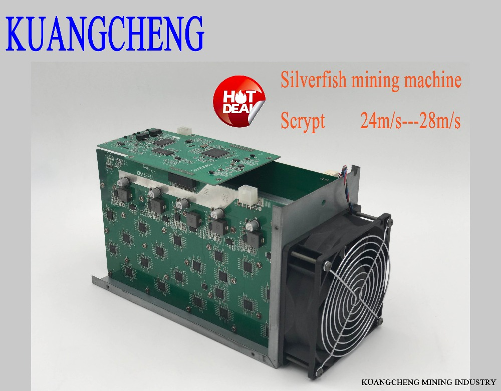 SilverFish 25m/s Litecoin Miner Scrypt 420 Watts Better Than ASIC Miner Zeus Antminer L3 +In Stock