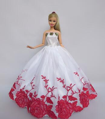 Genuine for barbie dress set for dolls clothes barbie princess wedding dresses for barbie accessories evening dress original