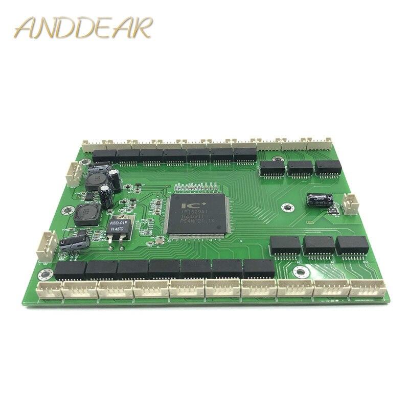 Industrial grade wide temperature railway camera 16/18/20 port10/100Mbps splitter mini engineering micro network switch module|Wireless Module|   - title=