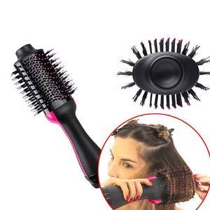 Image 4 - Многофункциональная вращающаяся щетка для волос, стайлер с вращающимся роликом, Расческа для укладки, выпрямления, завивки, горячего воздуха