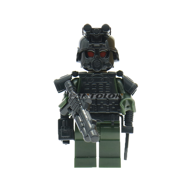 Military Special Forces Building Blocks City Police Swat Team Cs Commando Army Soldiers With Weapon Gun Blocks Toy For Children