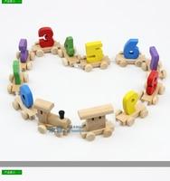 Número de blocos de construção de trem de brinquedo do bebê de aprendizagem do bebê capacidade de desenvolvimento educação brinquedo de madeira seguro