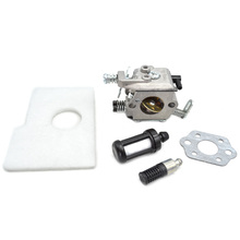 WT-325A Walbro Carburetor with Gasket and  Air Filters Pickup Body Fuel Oil Filter Hose Pipes for Stihl MS180 170 017 018 Parts ms180 chainsaw coil ignition module with terminal socket and zama carburetor carbs with gasket repair kits for stihl 017 018 ms1