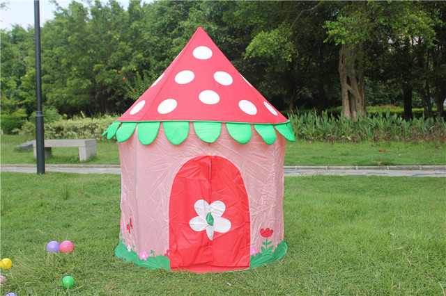 Zewik Kids Magic House Tent Princess Strawberry Style Castle Play House Tent Toy Outdoor Tunnel Toy & Zewik Kids Magic House Tent Princess Strawberry Style Castle Play ...