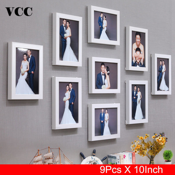 9 Pcs Classic Picture Frames Wall Photo Frame 10 Inch Wedding Couple Recommendation Black White Pictures Frames Gift  Home Decor