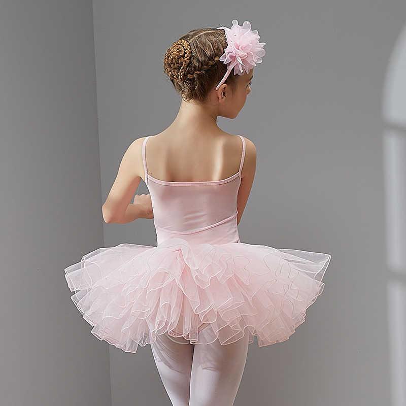 Ballet Jurk Dans Jurk Tutu Jurk voor Meisjes Kids Kinderen Hoge Kwaliteit Korte Mouwen Tule Dans Slijtage