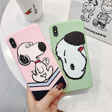 Cute dog case For iPhone X XS xr MAX mobile phone for iphone 8 7 6 6s plus soft shell back cover